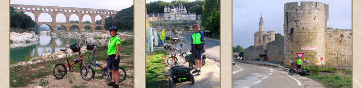 Biking round France with trailers
