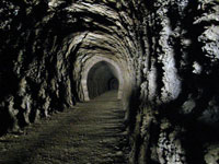 biking through tunnels on the Otago Rail Trail